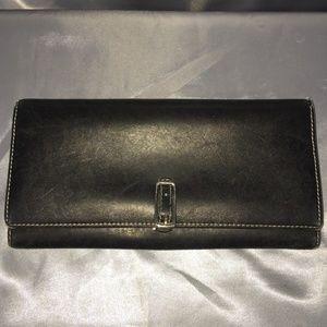 Coach buckle clasp bi-fold wallet